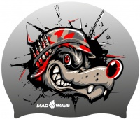 Mad Wave Wolf Helmet Swim Cap Junior