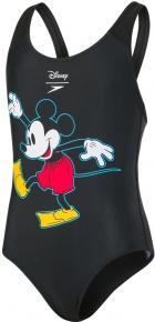 Speedo Disney Mickey Mouse 1 Piece Girl Black/Red/Yellow/White