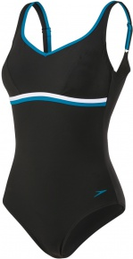 Speedo ContourLuxe 1 Piece Black/Nordic Teal/White