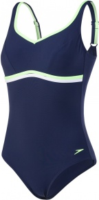 Speedo ContourLuxe 1 Piece Navy/Bright Zest/White