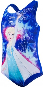 Speedo Disney Frozen 1 Piece Girl Beautiful Blue/Turquoise/Pink Splash