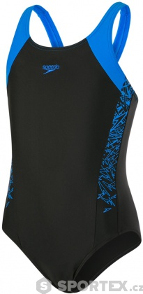 Speedo Boom Splice Muscleback Girl Black/Brilliant Blue