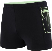 Speedo Contrast Pocket Aquashort Black/Brigt Zest