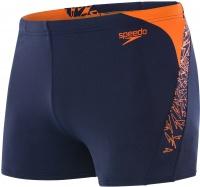 Speedo Boom Splice Aquashort Navy/Pure Orange
