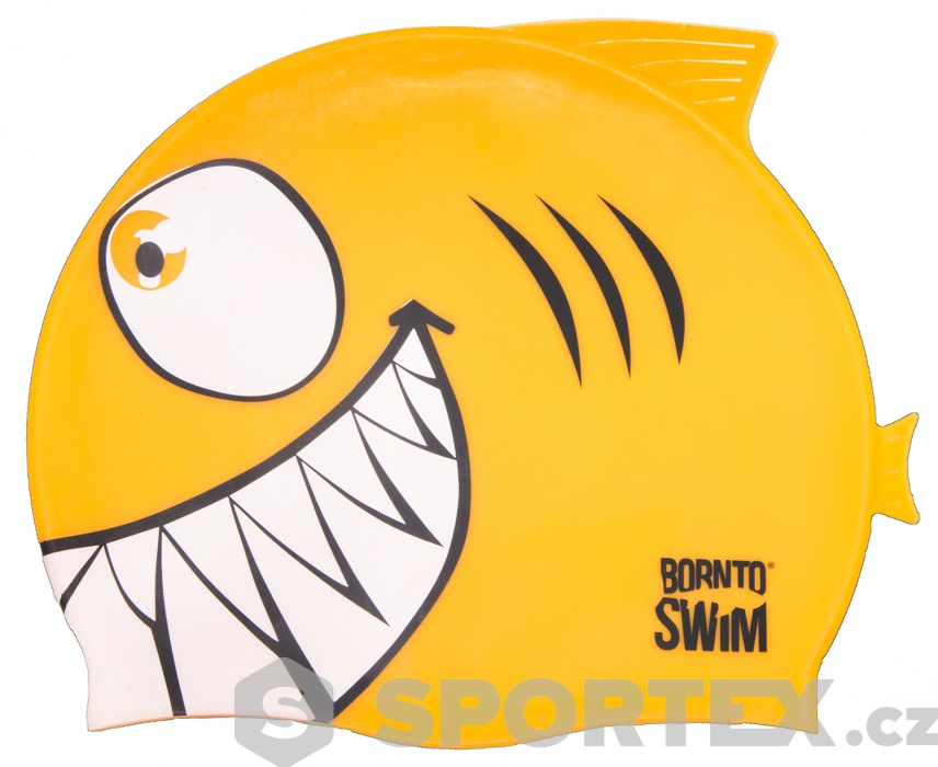 BornToSwim Shark Junior Swim Cap | Sportex.cz