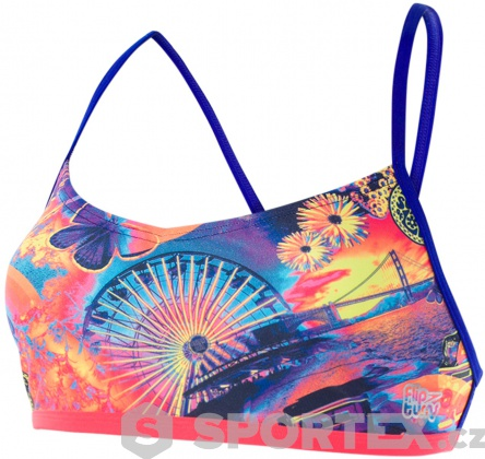 Speedo Hi Five Flash Ribbonback Top Navy/Chroma Blue/Neon Orchid/Psycho Red