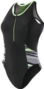 Speedo Reflect Wave Swimsuit Black/Bright Zest/White