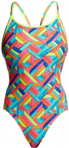 Funkita Panel Pop Diamond Back One Piece