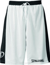 Kraťasy na basketbal Spalding Essential white/black