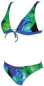 Arena Palm Bow Bra Green/Blue