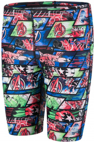 Speedo Marvel Avengers Allover Jammer Boy Black/Neon Blue/Lava Red