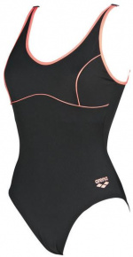 Arena Tania Clip Back One Piece Black/Shiny Pink