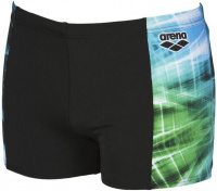 Arena Cyber Short Black/Sea Blue