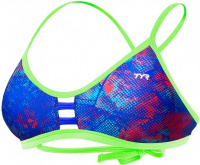 Tyr Canvas Pacific Tieback Top Red/Turquoise/Blue