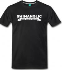 Swimaholic Life Is Cool In The Pool T-Shirt Men Black