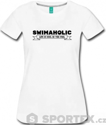 Swimaholic Life Is Cool In The Pool T-Shirt Women White