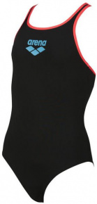 Arena Biglogo Swim Pro Back One Piece Junior Black/Shiny Pink