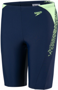 Speedo Boom Splice Jammer Boy Navy/Bright Zest