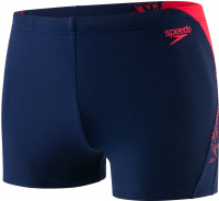 Speedo Boom Splice Aquashort Navy/Lava Red