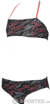 Arena Fantasy Bandeau Junior Black/Shiny Pink