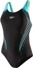 Speedo Fit Laneback Black/Aquasplash/Bright Zest