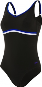 Speedo ContourLuxe 1 Piece Black/Chroma Blue/White