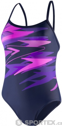 Speedo Boom Placement Thinstrap Navy/Neon Orchid/Royal Purple