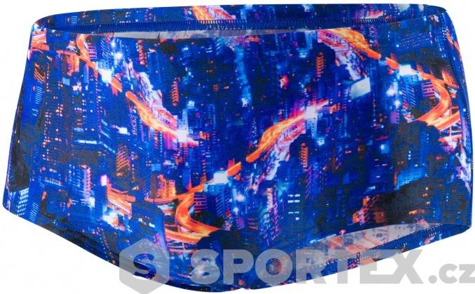 Speedo Kanji Lights 14cm Allover Brief Black/Psycho Red/Papaya Punch