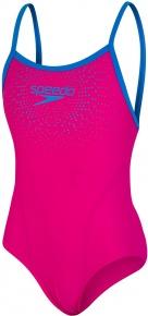 Speedo Gala Logo Thinstrap Muscleback Girl Electric Pink/Brilliant Blue