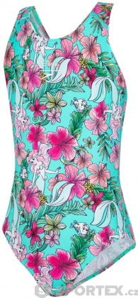 Speedo Little Mermaid Allover Splashback Girl Floral Mint/Pink/Orange/Blue/Green