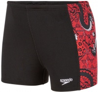 Speedo DragonZen Allover Panel Aquashort Boy Lava Red/Black/White