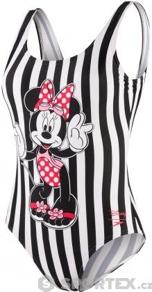 Speedo Minnie Placement U Back Stripe Black/White/Red/Pink