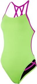 Speedo Neon Freestyler 1 Piece Bright Zest/Neon Orchid
