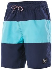 Speedo Panel Leisure 18 Watershort Navy/Aqua Splash