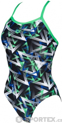 Arena Power Triangle Light Drop One Piece Black/Golf Green