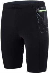 Speedo Contrast Pocket Jammer Black/Oxid Grey/Bright Zest