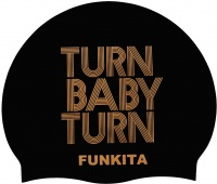Funkita Turn Baby Turn Gold Swimming Cap