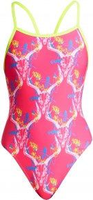 Funkita Sweet Skulls Single Strap One Piece Girls