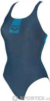 Arena Basics Swim Pro Back One Piece Shark/Turquoise