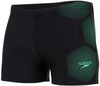 Speedo Tech Placement Aquashort Black/Green Glow