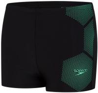 Speedo Tech Placement Aquashort Boy Black/Green Glow
