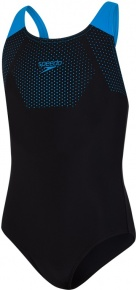 Speedo Tech Placement Muscleback Girl Black/Pool