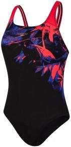 Speedo ColourRays Placement Powerback Black/Lava Red/Beautiful Blue