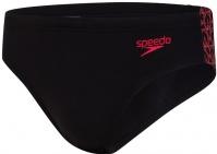 Speedo BoomStar Splice 7cm Brief Black/Fed Red