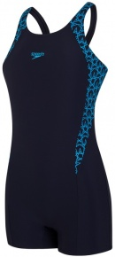 Speedo BoomStar Splice Legsuit Girl Navy/Pool