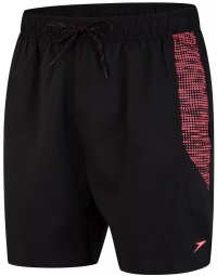 Speedo Sport Printed 16 Watershort Black/Phoenix Red