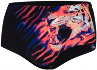 Speedo JungleBeast 16cm Placement Brief Black/Lava Red/Mango/Green Glow/White
