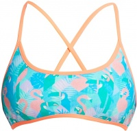 Funkita Pastel Paradise Cross Back Tie Bikini Top