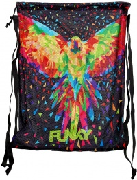 Funky King Parrot Mesh Gear Bag
