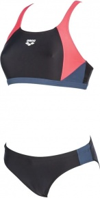 Arena Ren Two Pieces Black/Fluo Red/Shark